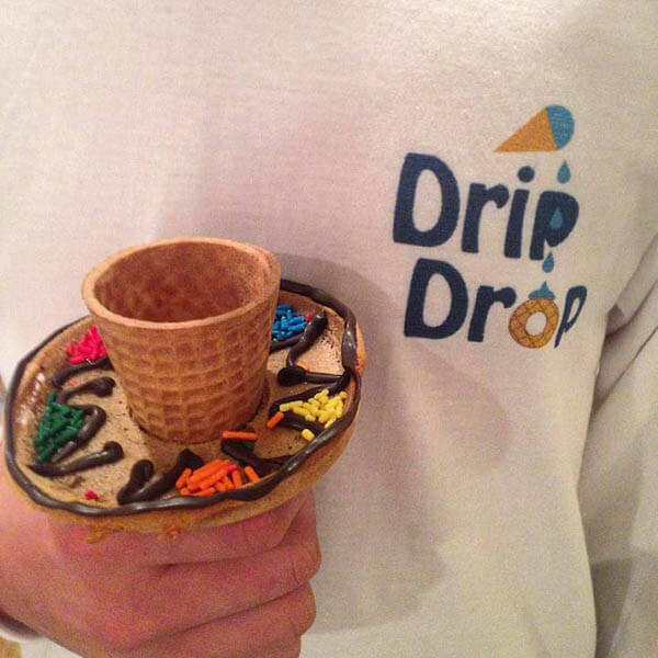 Drip Drop: an Edible Icecream Ring Prevents Melting Icecream from Making a Mess