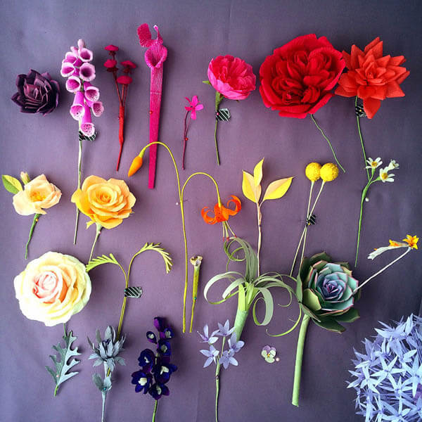 Lifelike Paper Flowers and Plants