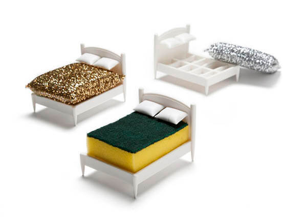 Bed For Sponge? A Playful Sponge Holder Let Your Sponge Have a Clean Dream