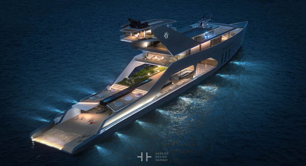 108M Mega Yacht With Its Stern Seamlessly Transited Into Water