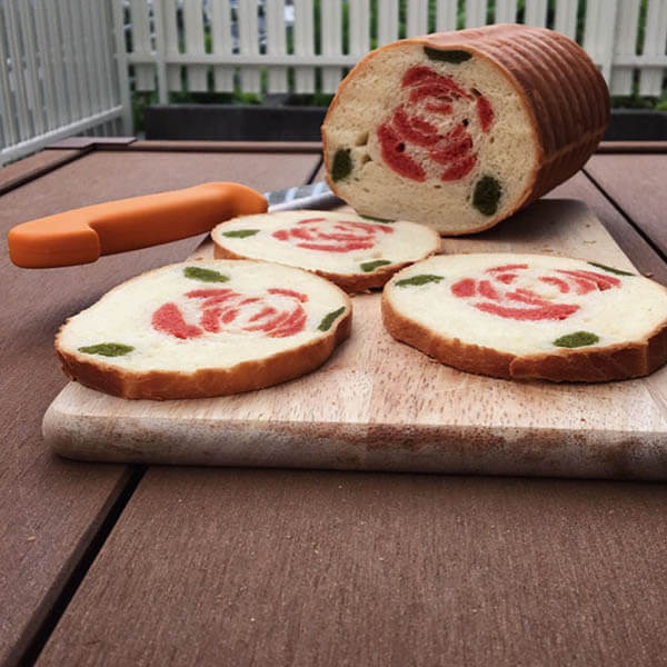 Creative Bread With Beautiful Pattern Hidden Inside