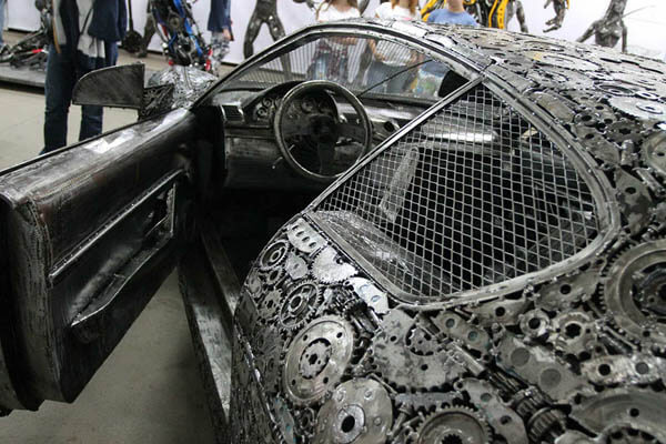 Iconic Automotive Built from Scrap Metal by 50 Artists Over 5 Years