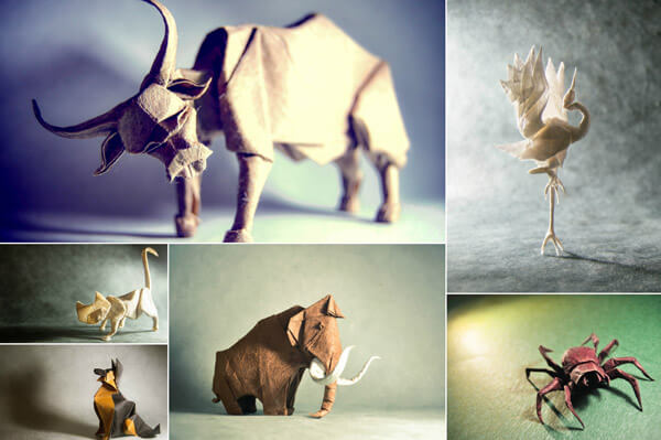 Stunning Origami Animal Created Folded by Gonzalo García Calvo