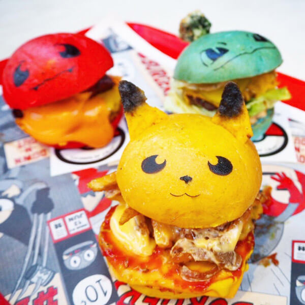 Adorable Pokémon Inspired Burgers