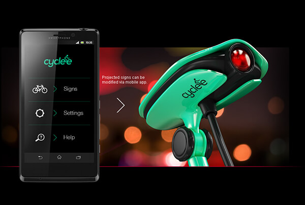 CYCLEE: Sign Projector for the Safety of Bike Rider