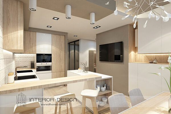 Elegant Neutral Style Apartment in Ukraine