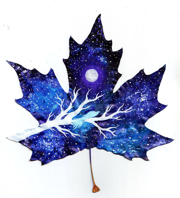 Magical and Mystical Painting on Fallen Leaves