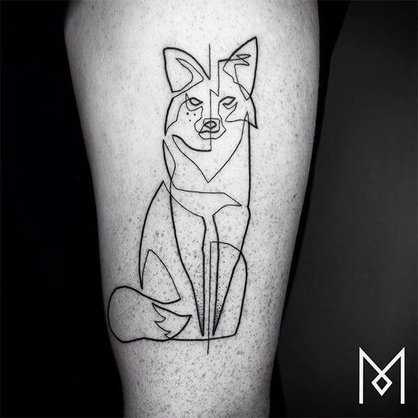 One Continuous Line Style Tattoos by Mo Ganji
