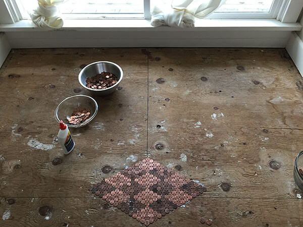 New Flooring Made Out of 13,000 Pennies