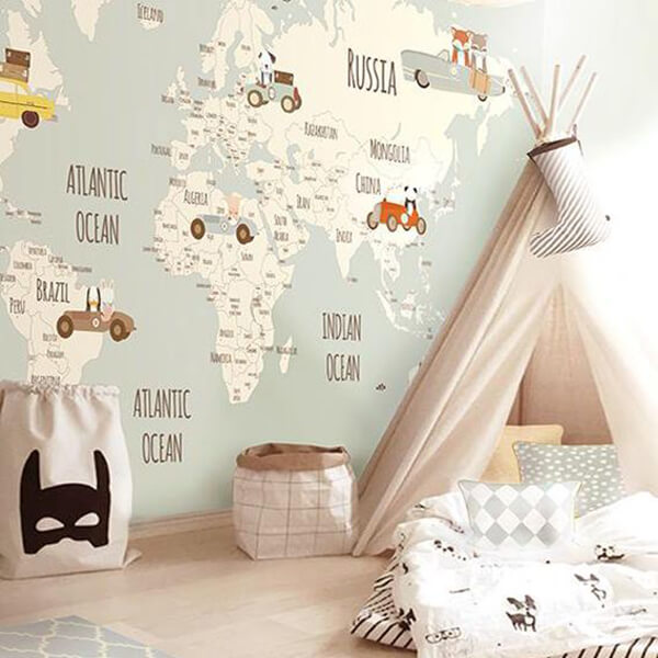 Children S And Kids Room Ideas Designs Inspiration: 27 Cute Kid's Room Wallpaper Ideas