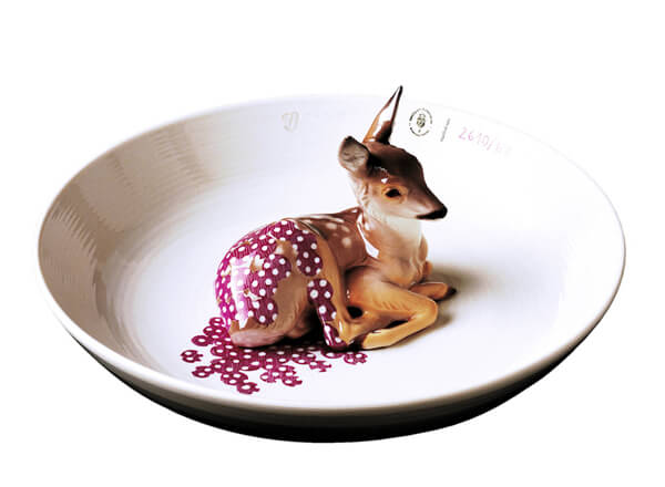 Hand-Painted Ceramic Animal Bowls by Hella Jongerius