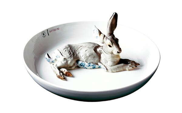 Hand-Painted Ceramic Animal Bowls by Hella Jongerius