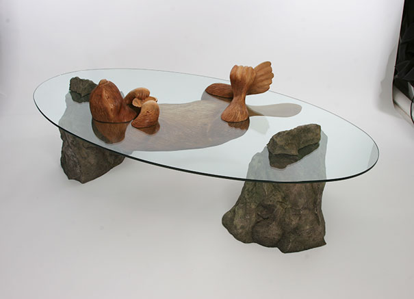 Water Table - Unique Table Features Animal Float Through Water