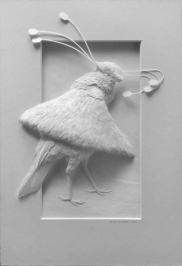 Unbelievable Delicate Paper Sculptures of Birds by Calvin Nicholls