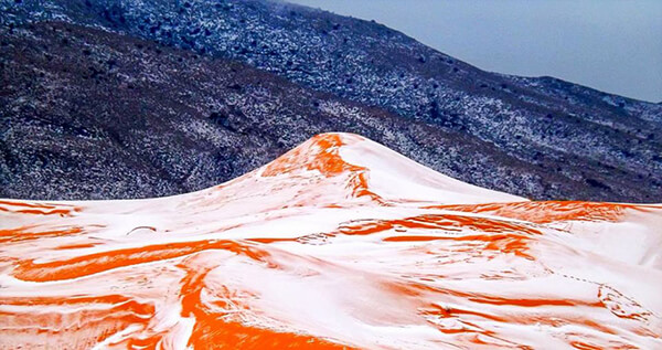 White Christmas in Sahara? First Time in 37 Years, Snow falls in Sahara Desert Town Again