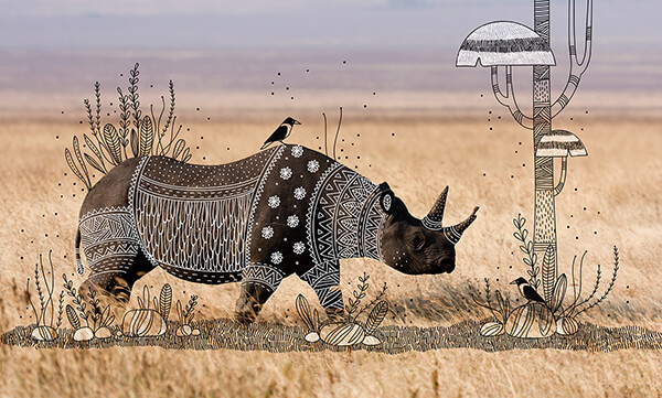 Animal Doodles: Playful Illustrations that Give Animal Fanciful Tribal Patterns Costumes