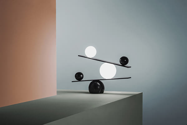 Balance Lamp: Dark and Light, Black and White, All in One Lamp