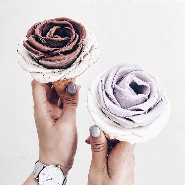 Gelato Flower Icecream is Too Pretty To Eat