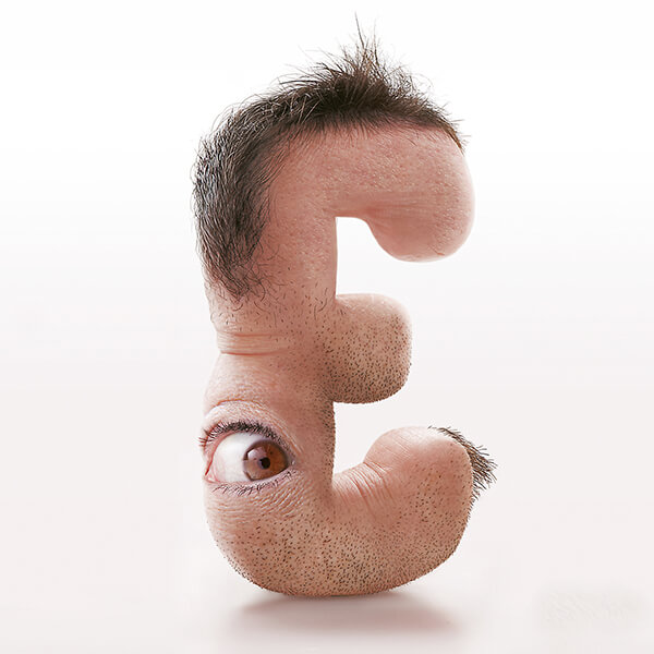 Creepy Human Typography with Human Features