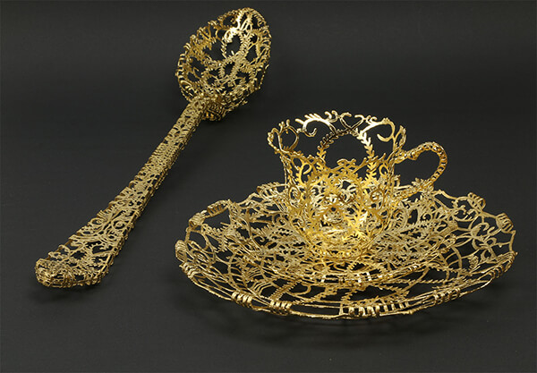 Gorgeous Gold and Silver Sculpted Tableware Inspired by Historical European Works