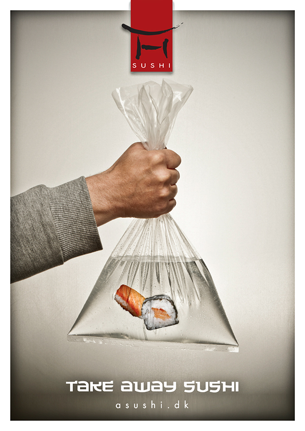 Creative Sushi Ads Try to Prove How Fresh Sushi Can Be