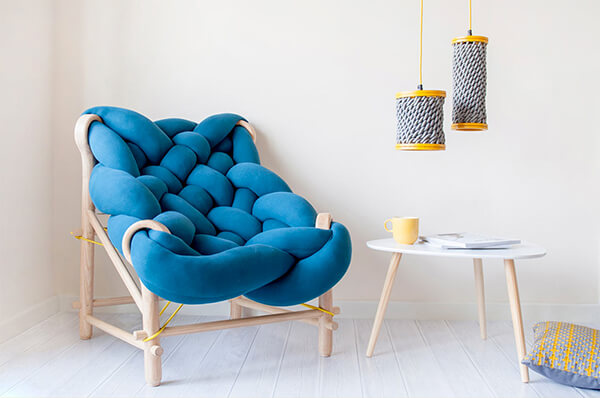 Incredibly Comfy Looking Chairs Woven From Overstuffed Knit Tubes