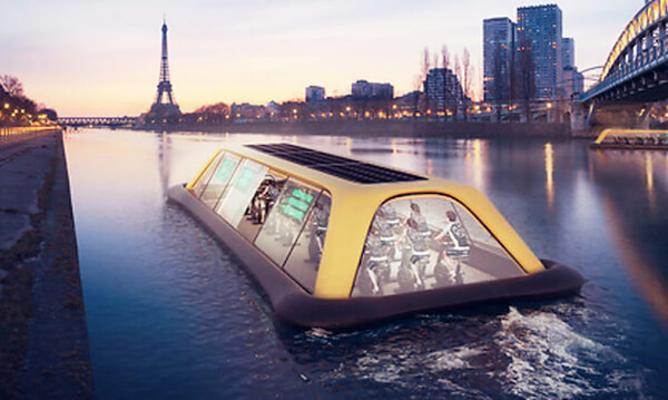 Paris Navigating Gym: Floating Gym Powered by Human Energy
