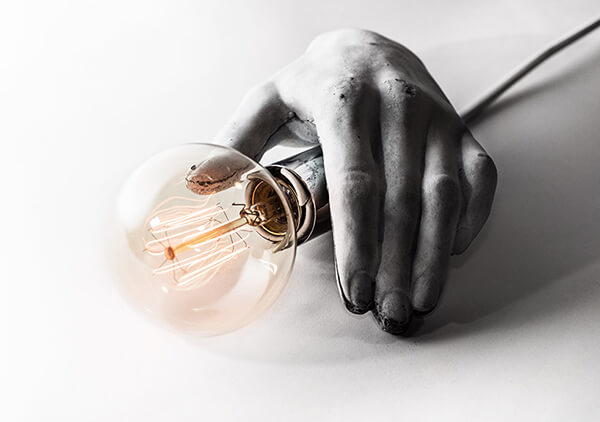 Creepy CEK Sculpted Concrete Light That Blend Human Body Parts with Light Bulbs