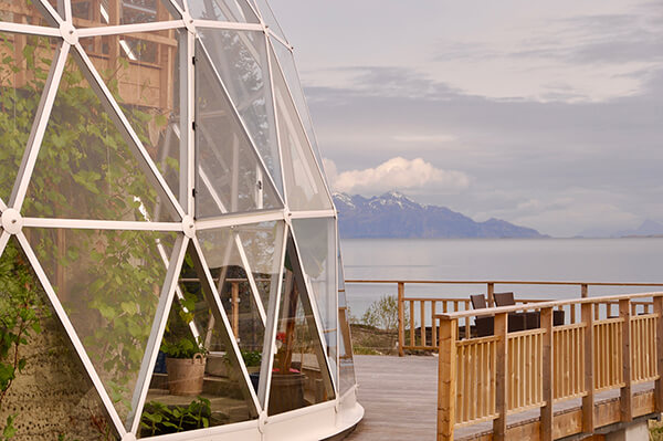 Family of Six Live in A Self-Built House Under A Solar Geodesic Dome In The Arctic Circle