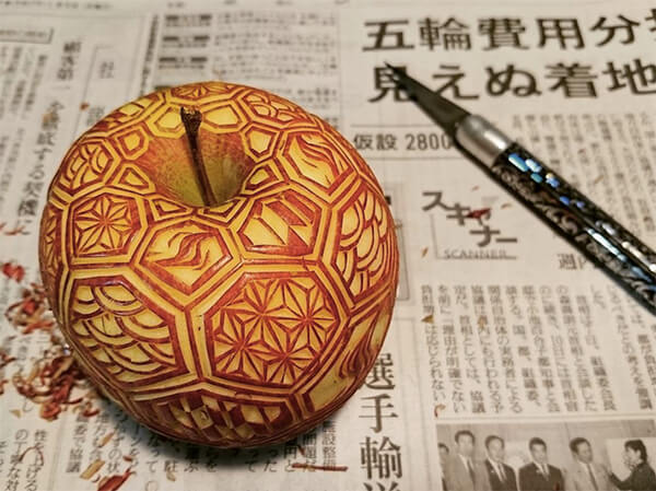 Geometric Style Food Carving by Gaku
