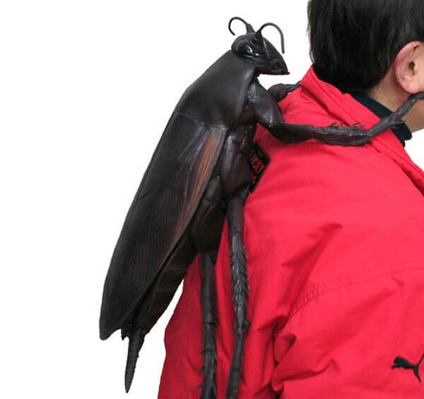 Creepy Backpack in Cockroach Shape
