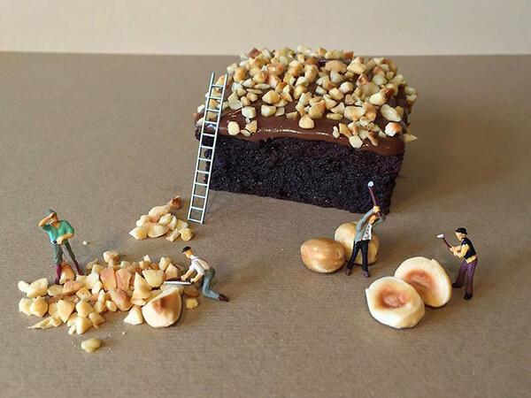 Playful Miniature Desserts World by Matteo Stucchi