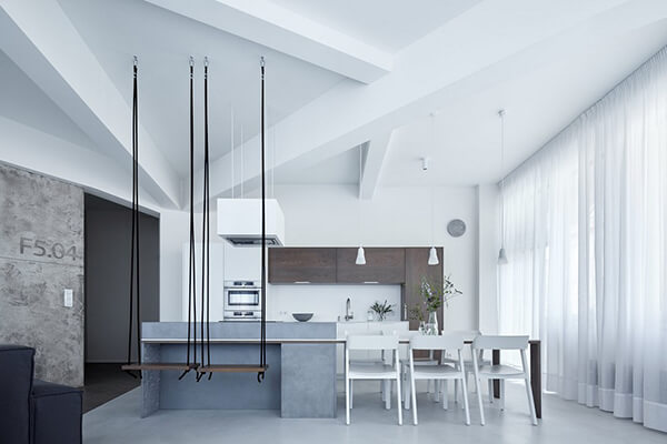 Bartoskova loft a minimalist and modern apartment in for Arredare piccoli ambienti
