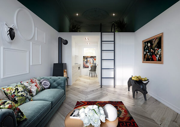 Gallery Looking 30 sqm Small Apartment Design in Poland