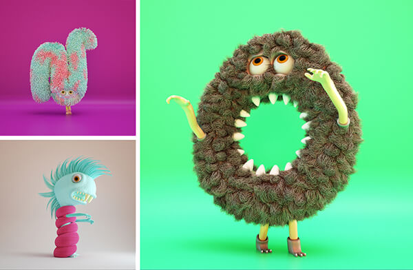 Fun and Charismatic Furry Alphabet by Bernat Casasnovas