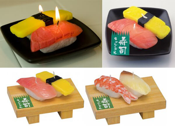 Yummy Candles in the Shape of Japanese Cuisine