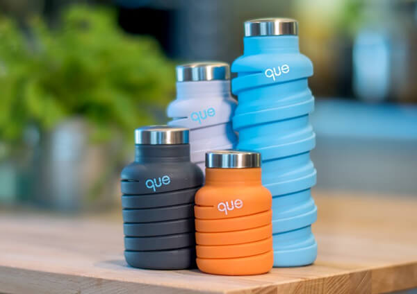 Que Bottle: The Collapsible Travel Water Bottle