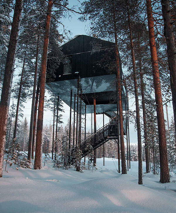 The 7th Room: an Incredible Treehouse in the Arctic Circle