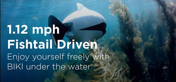 BIKI: The First Bionic Wireless Underwater Fish Drone