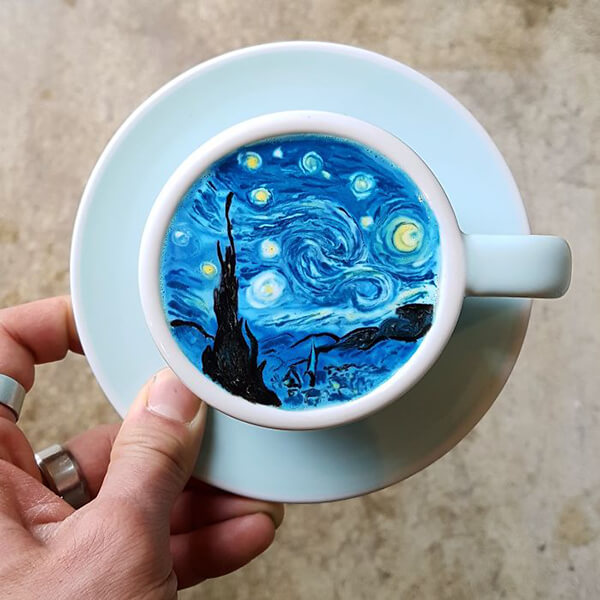 Cremart: Unbelievable Art on Coffee by Kangbin Lee