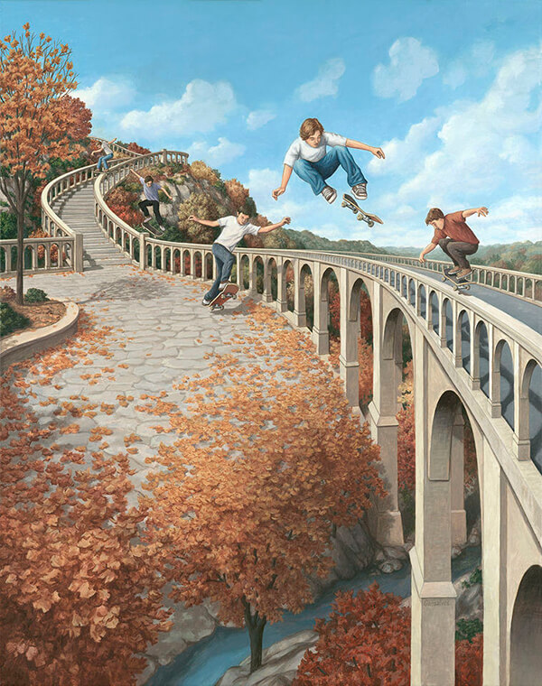 More Mind Blowing Optical Illusion Painting by Rob Gonsalves