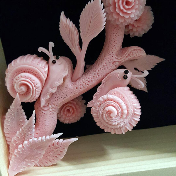 Delicate Sculpture Carved Out of Soap
