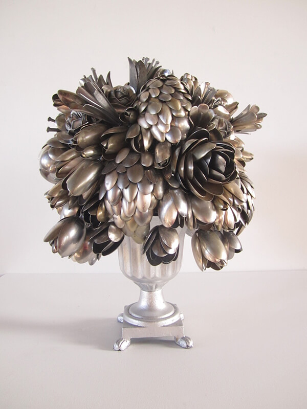 Unusual Bouquets Made From Hundreds of Spare Utensils