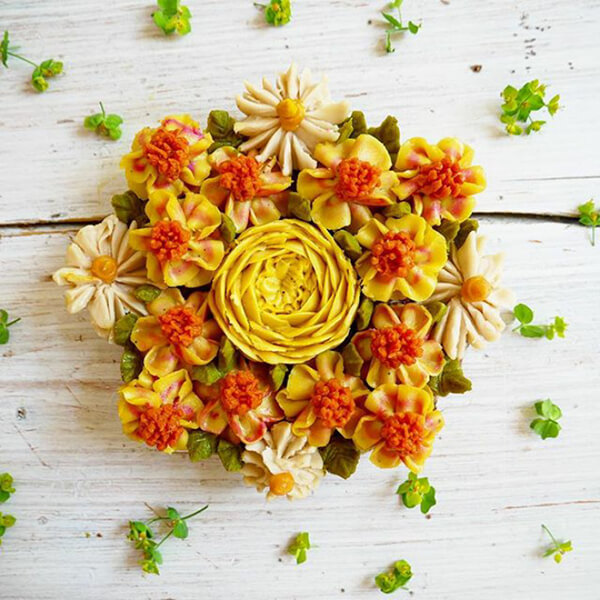 Flower Bouquets Like No Bake Raw Vegan Cake