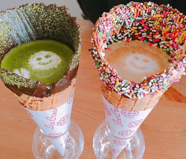 Coffee in Cone: Drink Your Coffee and Eat Your Cup