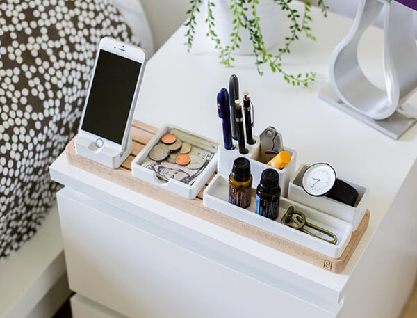 Gather a completely customizable modular desk organizer - Modular desk organizer ...