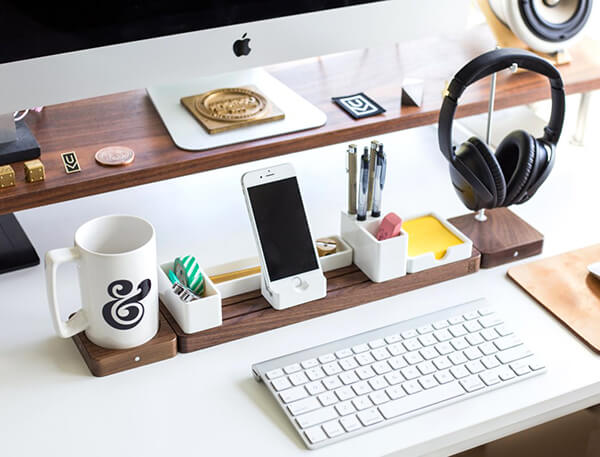 Gather: a Completely Customizable Modular Desk Organizer