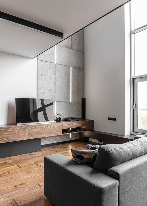 Stylish masculine apartment in poznan poland design swan for Designer apartment krakow