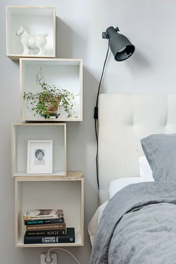 cool floating nightstand ideas for your bedroom – design swan Floating Nightstand Ideas
