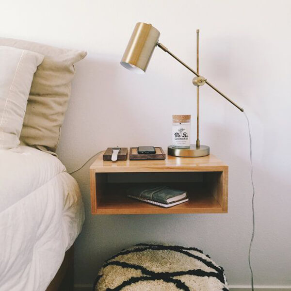6 Furniture Styles You Really Need To Consider In 2018: Cool Floating Nightstand Ideas For Your Bedroom